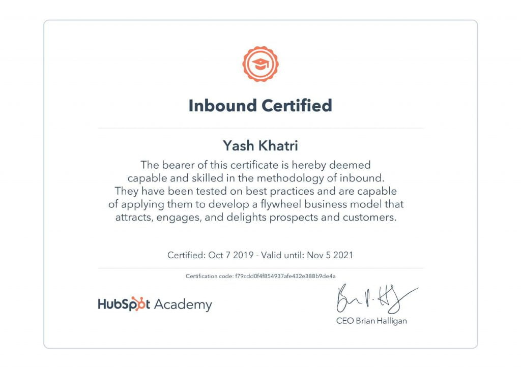 Yash A Khatri HubSpot Inbound